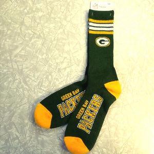 NFL Team Color Green Bay Packers Men's Socks
